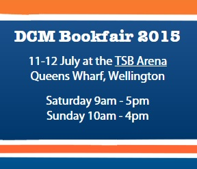 DCM Annual Bookfair Fundraiser Details 2015 11-12 July Sat 9am-5pm Sun 10am-4pm TSB Arena Wellington NZ