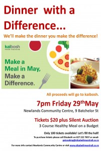 Elizabeth Marshall's Dinner with a Difference 29 May 2015