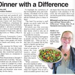 Pic of Elizabeth Marshall MasterChef New Zealand in the article from the Indepent Herald 12_5_15 promoting her Kaibosh Make a Meal In May fundraising Dinner with a Difference in Wellington