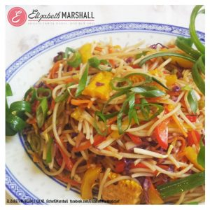 Elizabeth Marshall's Chinese Lo Mein MasterChef New Zealand Specialty Cooking Classes Catering and Cakes Wellington