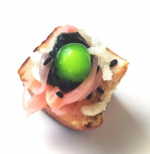 Photo of Elizabeth Marshall MasterChef New Zealand Invert Sushi Canape Specialty Catering Wellington