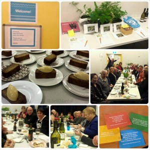 Photogrid of pictures from Elizabeth Marshall's Kaibosh Fundraiser for Make a Meal in May - Dinner With A Difference